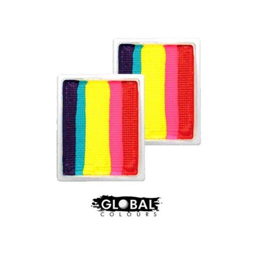 GLOBAL LEANNE'S RAINBOW NEON Arte corporal global | Recambio de movimiento divertido - Leanne's Rainbow Neon LC Obten colores extras para tu paleta de colores, donde tu misma puedes reponer los colores que ya se te terminaron RECARGA GLOBAL LEANNE'S RAINBOW NEON