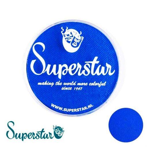 Superstar Bright Blue Superstar es una pintura de cara suave y cremosa altamente pigmentada. Se mezclan fácilmente, se secan en 30 segundos sobre la piel y se secan hasta obtener una cobertura sin manchas. Si quieres convertirte en un profesional, puedes obtener Superstar Bright Blue en el contenedor de 45 gramos. Superstar Bright Blue 45gr