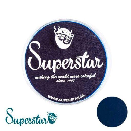 Superstar es una pintura de cara suave y cremosa altamente pigmentada. Se mezclan fácilmente, se secan en 30 segundos sobre la piel y se secan hasta obtener una cobertura sin manchas. Si quieres convertirte en un profesional, puedes obtener Superstar Plum en el contenedor de 45 gramos. Pintura facepaint   Ink Blue - 45gr