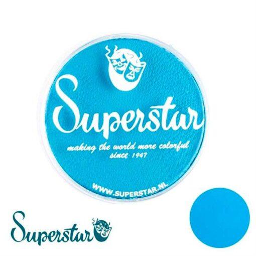 magic blue Superstar es una pintura de cara suave y cremosa altamente pigmentada. Se mezclan fácilmente, se secan en 30 segundos sobre la piel y se secan hasta obtener una cobertura sin manchas. Si quieres convertirte en un profesional, puedes obtener Superstar Plum en el contenedor de 45 gramos. Pintura facepaint | Magic Blue - 45gr