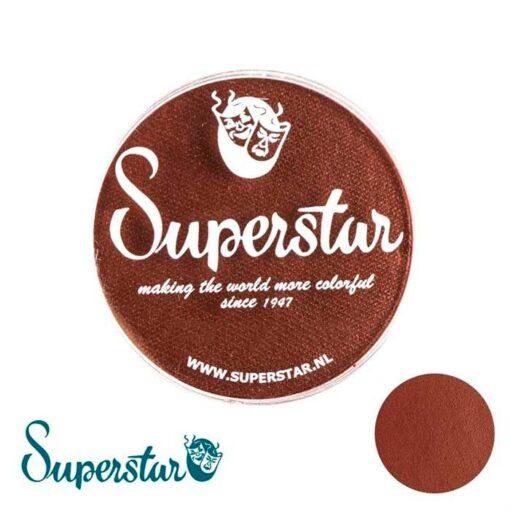Superstar Chocolate Superstar es una pintura de cara suave y cremosa altamente pigmentada. Se mezclan fácilmente, se secan en 30 segundos sobre la piel y se secan hasta obtener una cobertura sin manchas. Si quieres convertirte en un profesional, puedes obtener Superstar Chocolate (Dark Brown) en el contenedor de 45 gramos. Superstar Chocolate (Dark Brown)