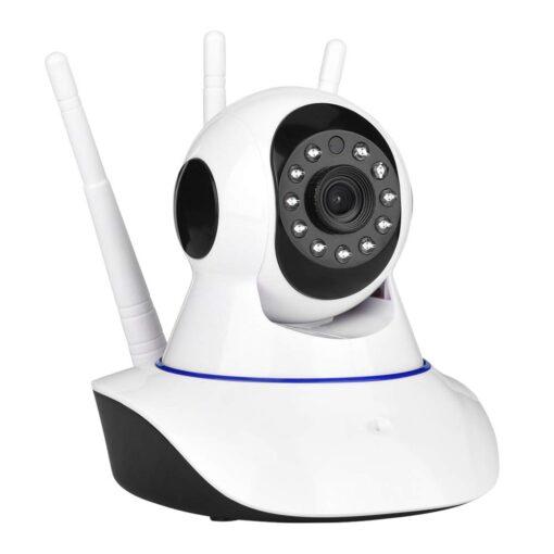 """<span class=""""a-list-item"""">Vigilancia 24 horas. Sensor de movimiento avanzado y aviso en tiempo real. Cuando se detecta un movimiento, las alarmas le enviarán fotos y videos a través de la aplicación. Soporte Muchas personas comparten el mismo video en cualquier lugar, en cualquier momento, para iOS y Andriod.</span> Vista panorámica panorámica de 360 grados, con funcion de vision nocturna Cámara de seguridad con Visión nocturna WiFi"""