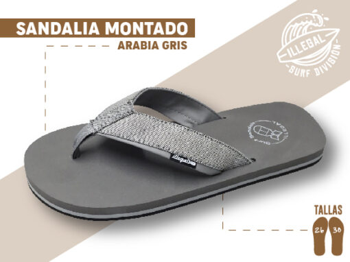 <b>SANDALIA MARCA ILEGAL</b> <b>PARA CABALLERO</b> <strong>Color Gris y tela</strong> <b>TALLAS DEL 26 A 30 CM</b> <b>PRECIO ESPECIAL A MAYORISTAS</b> <b>mayoreo@comprastodo.com</b> <b>SOMOS FABRICANTES</b> Sandalia Arabia Gris