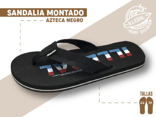 <b>SANDALIA MARCA ILEGAL</b> <b>PARA CABALLERO</b> <strong>Color Negro con tela</strong> <b>TALLAS DEL 26 A 30 CM</b> <b>PRECIO ESPECIAL A MAYORISTAS</b> <b>mayoreo@comprastodo.com</b> <b>SOMOS FABRICANTES</b> Sandalia Azteca Negro