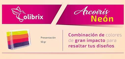 Colibrix ARCOIRIS NEON Colibrix <ul>  <li>Fiucsa oscuro</li>  <li>Narajana</li>  <li>Amarillo huevo</li>  <li>Fiucsa claro</li> </ul> Arcoiris Neon Colibrix 50g