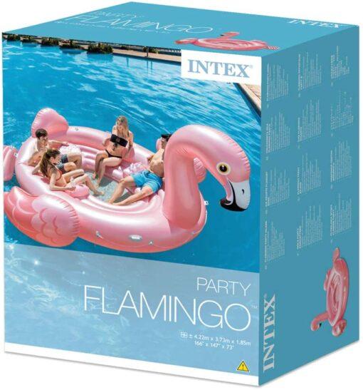 """Isla Inflable Flamingo Isla Inflable Flamingo Ideal para la diversión en la playa o la alberca disfrutar de los amigos <ul class=""""a-unordered-list a-vertical a-spacing-mini""""> <li><span class=""""a-list-item"""">Esta enorme isla de fiesta mide 4.22 x 3.73 x 1.85 cm y está construida con vinilo de calibre 20</span></li> <li>Capacidad 400 kilos</li> <li><span class=""""a-list-item"""">El refrigerador incorporado y 4 portavasos le dan mucho espacio para bebidas para que pueda mantenerse hidratado en el agua</span></li> <li><span class=""""a-list-item"""">El área de descanso de malla y la plataforma de embarque desmontable hacen que sea fácil de enfriar en el agua. 7 asas de servicio pesado hacen que sea más fácil salir</span></li> <li><span class=""""a-list-item"""">Incluye una bolsa de anclaje con una cuerda y un parche de reparación en caso de que las cosas no salgan según lo planeado</span></li> </ul> Intex Isla Inflable Flamingo"""